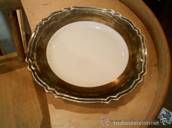 Antigüedades: Juego de merienda en porcelana Bavaria (FEINSILBER) ; BAÑO DE PLATA - 1000/1000 FEIN. Años 20 - 30 - Foto 2 - 55141798