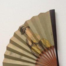 Antigüedades: ABANICO JAPONÉS, PEQUEÑO, VARILLAJE DE BAMBÚ.. Lote 55147015