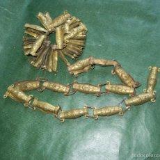 Antigüedades: ANTIGUO JUEGO 70 PIEZAS LATON RECUBRIMIENTO DE CABLEADO - AÑOS 20-30. Lote 55151331