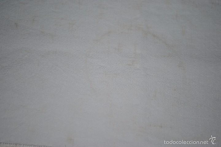Antigüedades: CAMINO DE MESA-DE LINO Y GANCHILLO-117X56 CM - Foto 4 - 55160239