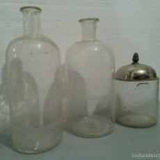 Antigüedades: 3 BOTES DE FARMACIA.. Lote 55161517