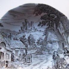 Antigüedades: ANTIGUO CUENCO PORCELANA INGLESA ESCENA RURAL. Lote 55167474