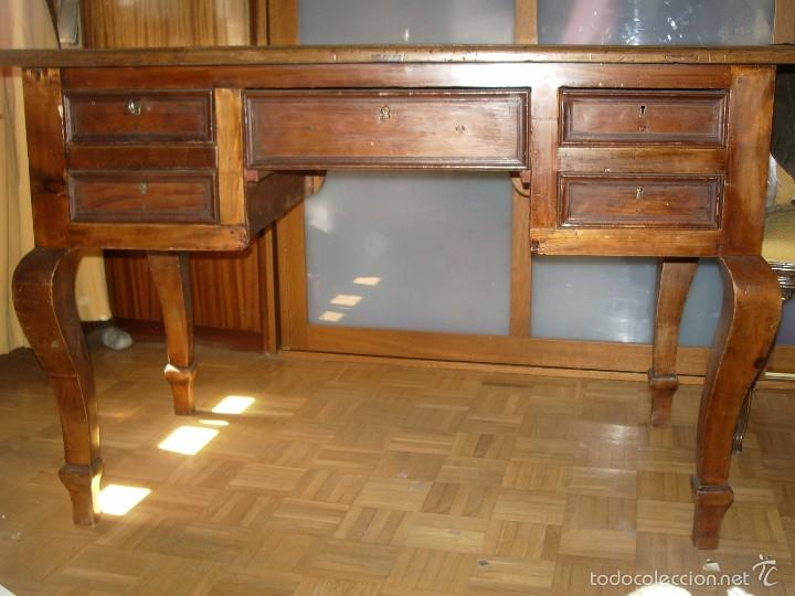 MESA ESCRITORIO MADERA RESTAURADA (Antigüedades - Muebles Antiguos - Mesas de Despacho Antiguos)