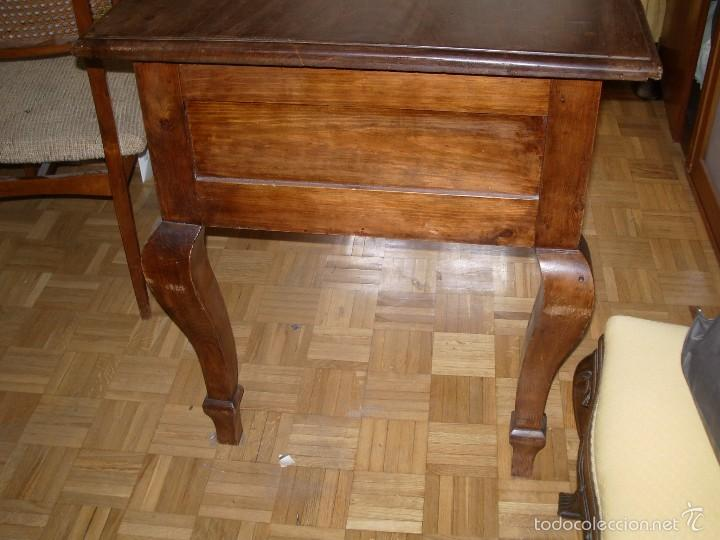 Antigüedades: Mesa escritorio madera restaurada - Foto 3 - 55174021