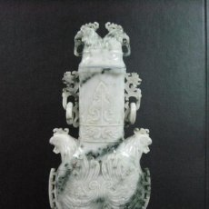 Antigüedades: ANTIGUA FIGURA ESCULTURA DE JADE . Lote 55174082