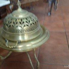 Antigüedades: IMPRESIONANTE BRASERO BRONCE LATON ANTIGUO 62 CM ALTURA X 52 DIAMETRO SIGLO XIX. Lote 55179368