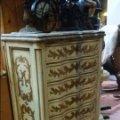 Antigüedades: ANTIGUO Y MAGNIFICO SINFONIER CAJONERA MADERA Y PAN DE ORO FINALES DEL XIX 7 CAJONES CURVADOS. Lote 55188229