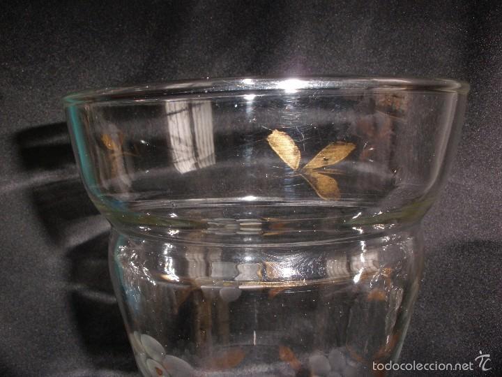 Antigüedades: Florero cristal tallado y pincelado en oro de la Fabrica de Santa Lucia Cartagena Murcia - Foto 7 - 55223763