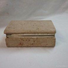 Antigüedades: CAJA JOYERO DE PIEDRA PULIDA . Lote 55223943