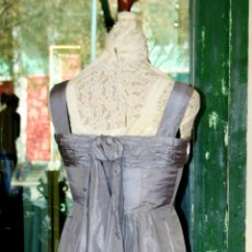 Antigüedades: EXCEPCIONAL VESTIDO HAUTE COUTURE. TAFETÁN DE SEDA. ESPAÑA. CIRCA 1950.. Lote 55241028