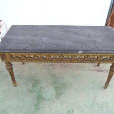 Antigüedades: MESA DE CENTRO DORADA. Lote 191033897