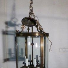 Antiquitäten - FAROL DE TECHO CRISTAL GRANDE CRISTAL CURVO - 55242838