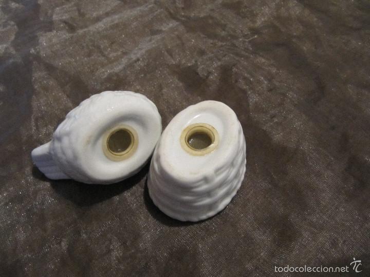 Antigüedades: Salero y pimentero de porcelana de Gallina Blanca Opalina de 8 x 7 cm - Foto 6 - 55244091