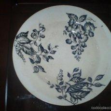 Antigüedades: PLATO DE MARIANO POLA Y CIA DE GIJON S XIX. Lote 55249800