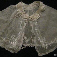 Antigüedades: ANTIGUA CAPELINA DE ENCAJE PPIO.S.XX. Lote 55285515
