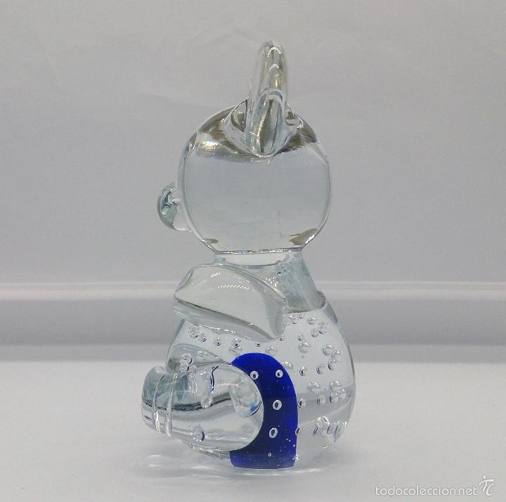 Antigüedades: Original pisapapeles en cristal de murano con forma de raton mickey mouse, estilo pop art . - Foto 2 - 55302558