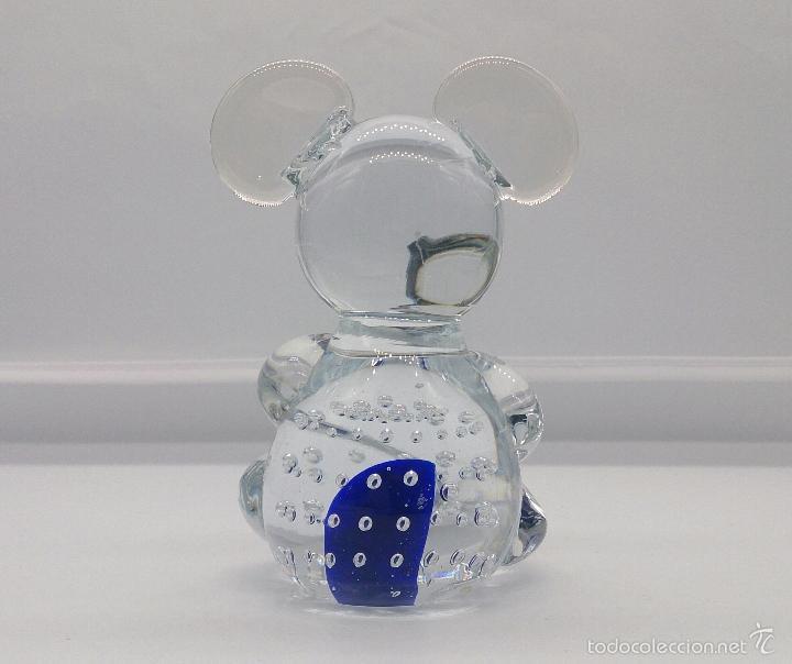 Antigüedades: Original pisapapeles en cristal de murano con forma de raton mickey mouse, estilo pop art . - Foto 3 - 55302558