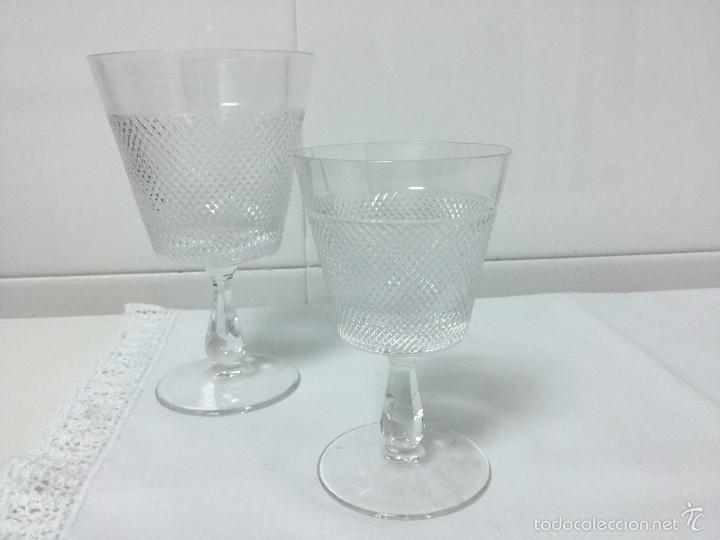 Antigüedades: Copas cristal tallado, Bohemia - Foto 2 - 55316507