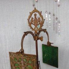 Antigüedades: LÁMPARILLA VIEJA DE ACEITE EN BRONCE. OLD OIL LAMP IN BRONZE.. Lote 55324652