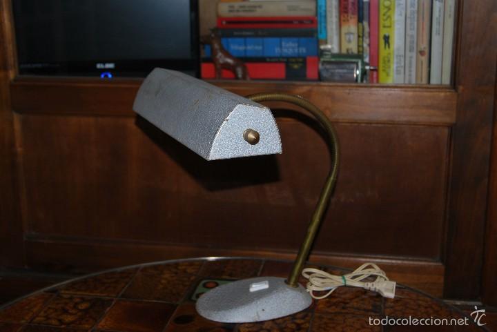 LÁMPARA DE DESPACHO - FLEXO DE OFICINA - DISEÑO INDUSTRIAL - FRANCIA - AÑOS 40 (Antigüedades - Iluminación - Lámparas Antiguas)