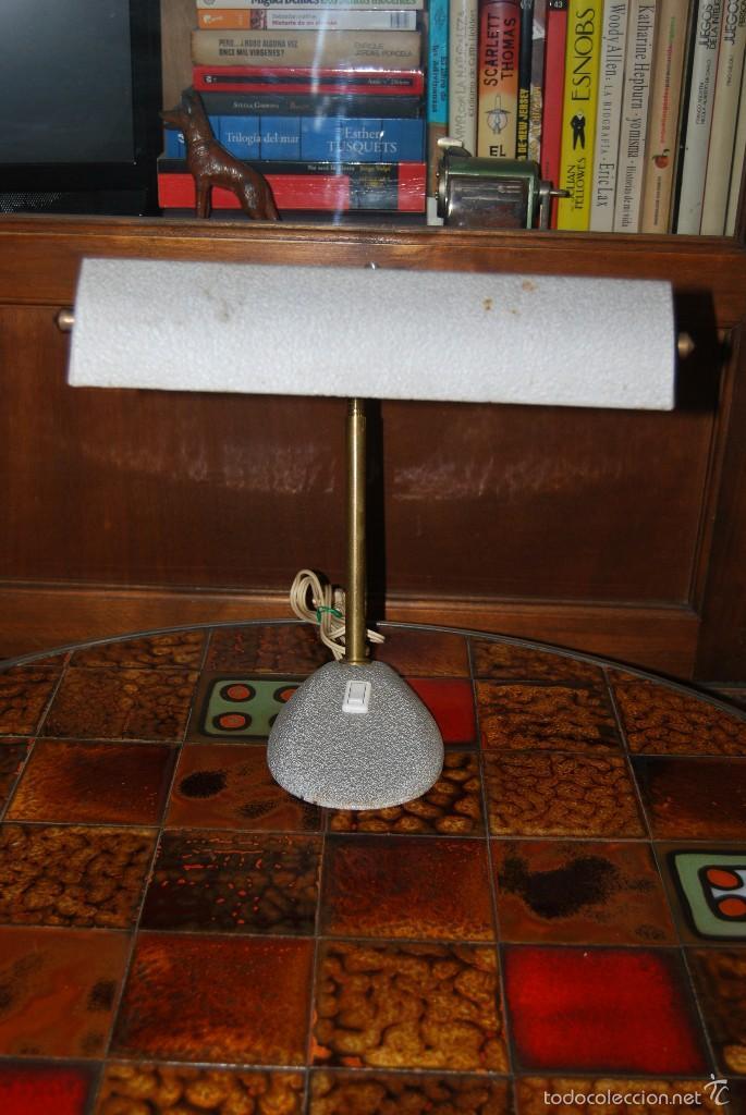 Antigüedades: LÁMPARA DE DESPACHO - FLEXO DE OFICINA - DISEÑO INDUSTRIAL - FRANCIA - AÑOS 40 - Foto 8 - 55328643