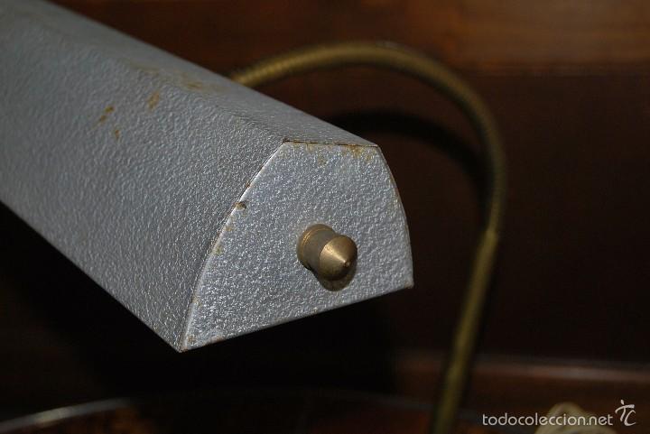 Antigüedades: LÁMPARA DE DESPACHO - FLEXO DE OFICINA - DISEÑO INDUSTRIAL - FRANCIA - AÑOS 40 - Foto 11 - 55328643