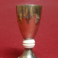 Antigüedades: PEQUEÑA COPA PLATA Y MARFIL. COUPE MAY QUEEN. CHAMPIONNAT D'EUROPE. 1952.. Lote 55329029