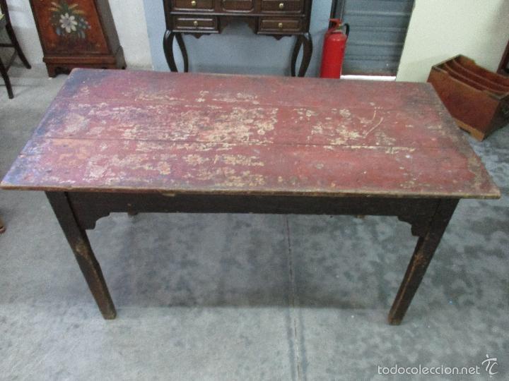 Antigua mesa - de cocina - rustica - madera de - Vendido en Venta ...