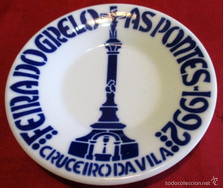 PLATO DE SARGADELOS, FEIRA DO GRELO, AS PONTES 1992 (Antigüedades - Porcelanas y Cerámicas - Sargadelos)
