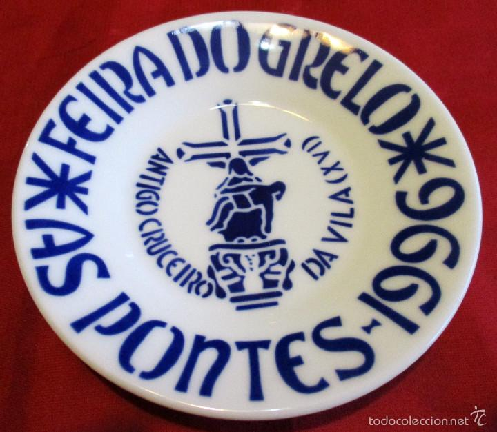 PLATO DE SARGADELOS, FEIRA DO GRELO, AS PONTES 1996 (Antigüedades - Porcelanas y Cerámicas - Sargadelos)