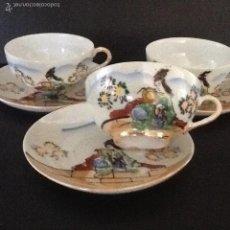 Antigüedades - Tres tazas café porcelana fina Japonesa - 55345649