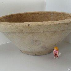 Antigüedades: ANTIGUO LEBRILLO AMASAR O LAVABO VER FOTOGRAFÍAS DIÁMETRO 46 X 35. Lote 55351640
