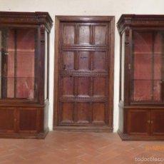 Antigüedades: PAREJA DE VITRINAS ALFONSINAS. Lote 55356006
