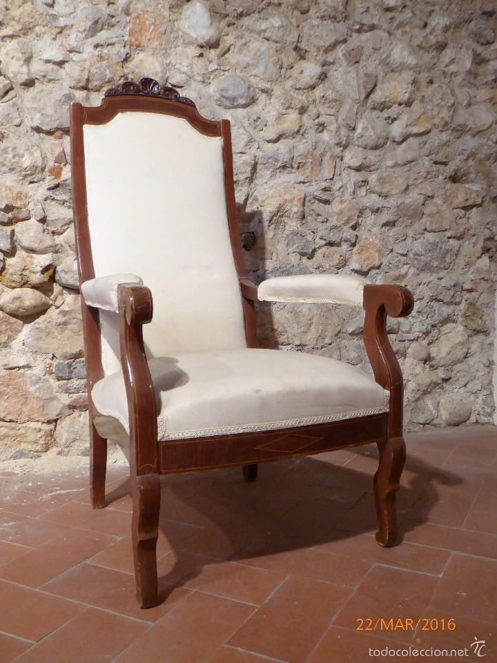 SILLON CAOBA (Antigüedades - Muebles Antiguos - Sillones Antiguos)
