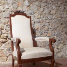 Antigüedades: SILLON CAOBA. Lote 55356687