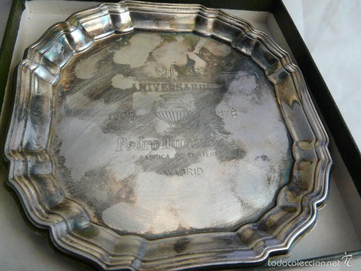 Antigüedades: PLATO 90 ANIVERSARIO PLATERIA PEDRO DURAN MADRID, 1886-1976 / EN SU ESTUCHE ORIGINAL - Foto 3 - 55356911