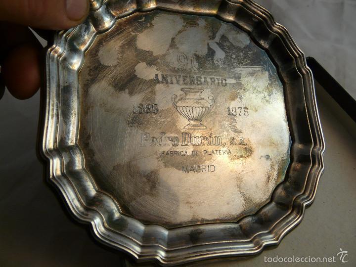 Antigüedades: PLATO 90 ANIVERSARIO PLATERIA PEDRO DURAN MADRID, 1886-1976 / EN SU ESTUCHE ORIGINAL - Foto 5 - 55356911