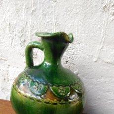 Antigüedades: ACEITERA ANTIGUA DE CERAMICA CREO QUE ES DE GRANADA O ZONA DE UBEDA TIENE 20 CMS. DE ALTO. Lote 55365646