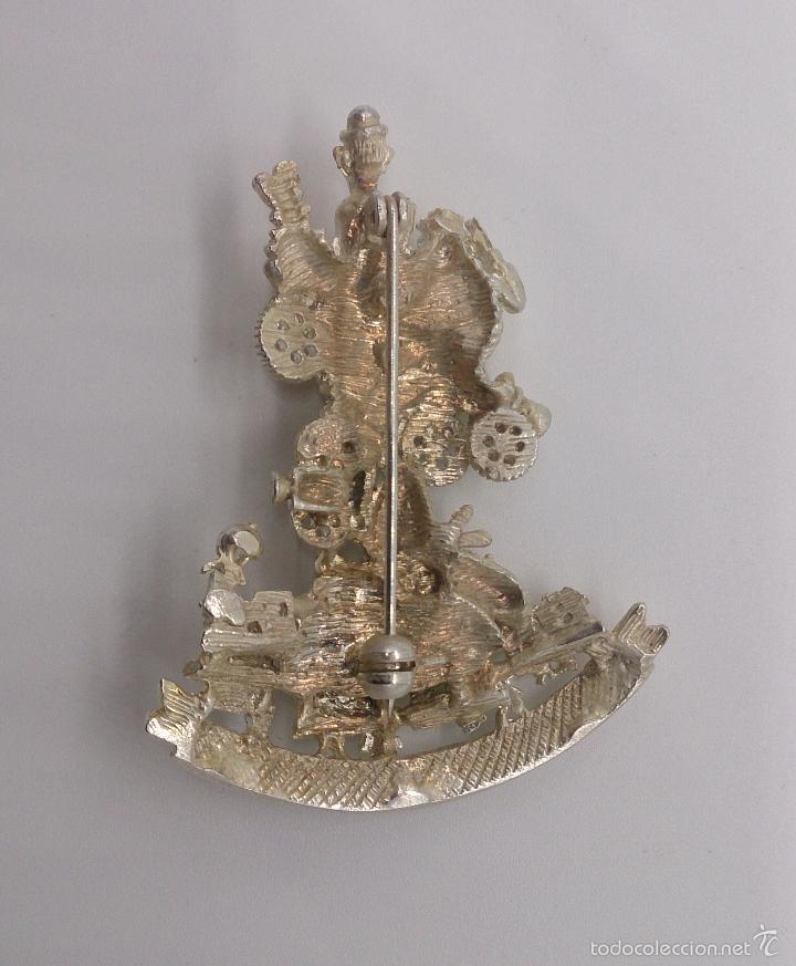 Antigüedades: Bello broche de la falla del ayuntamiento del año 2001 chapada en plata de ley, Valencia . - Foto 5 - 55372163