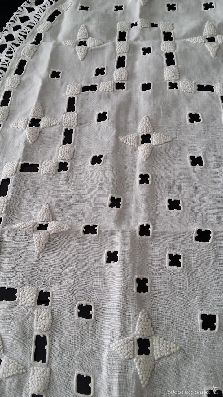 Antigüedades: Antiguo tapete bordado - Art Deco - Foto 4 - 55375391