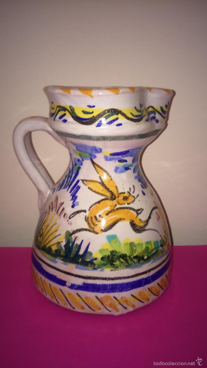 JARRA PUENTE DEL ARZOBISPO. S. XIX. 19.250 CMS ALTURA. EN PERFECTO ESTADO. (Antigüedades - Porcelanas y Cerámicas - Puente del Arzobispo )
