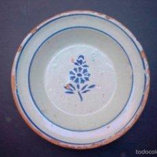 Antigüedades: C107.- PLATO CERAMICA ARAGONES DE MUEL.- SIGLO XIX. Lote 55380618