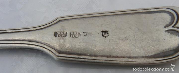 Antigüedades: CUCHARRA INGLESA DE PLATA SIGLO XVIII , PEARSON NOTTINGHAM - Foto 4 - 55381948