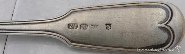 Antigüedades: CUCHARRA INGLESA DE PLATA SIGLO XVIII , PEARSON NOTTINGHAM - Foto 5 - 55381948