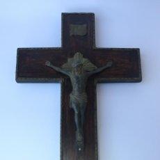 Antigüedades: CRUCIFIJO ANTIGUO MADERA CRUZ CRISTO JESUS CRUCIFICADO. Lote 55383236