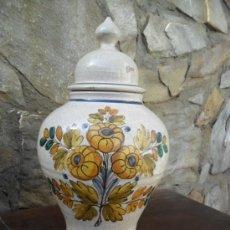 Antigüedades: TIBOR SEGOVIANO DECORADO A MANO Y CRAQUELADO. Lote 55388405
