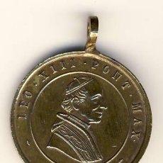 Antigüedades: PRECIOSA BIEN CONSERVADA MEDALLA DEL PAPA LEON XIII.-1878-1903.- 25 MM.. Lote 55392340