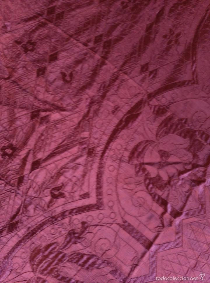 Antigüedades: Colcha antigua de raso modernista - Foto 4 - 55397692