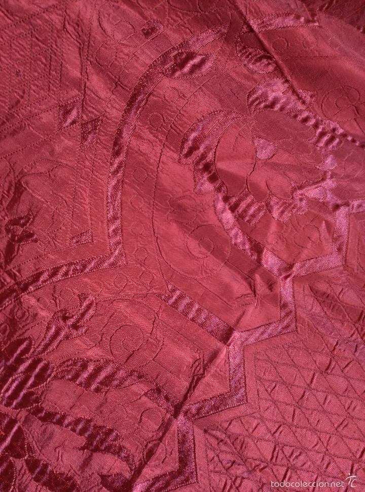 Antigüedades: Colcha antigua de raso modernista - Foto 9 - 55397692