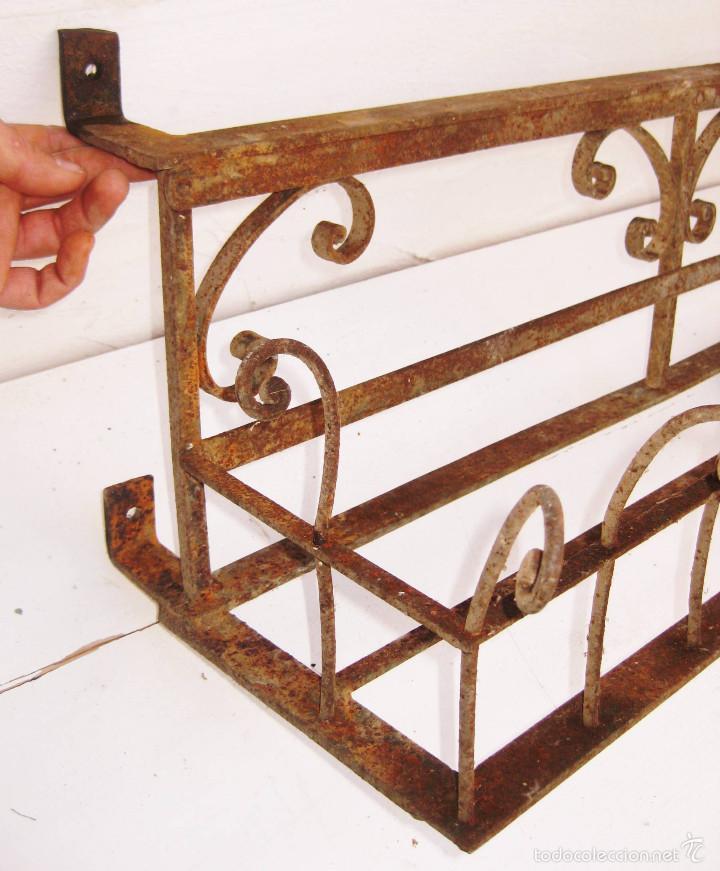 Fantastico macetero hierro forja circa 1870 de comprar - Maceteros para pared ...